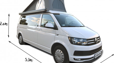 VOLKSWAGEN T6 with a roof tent 2018