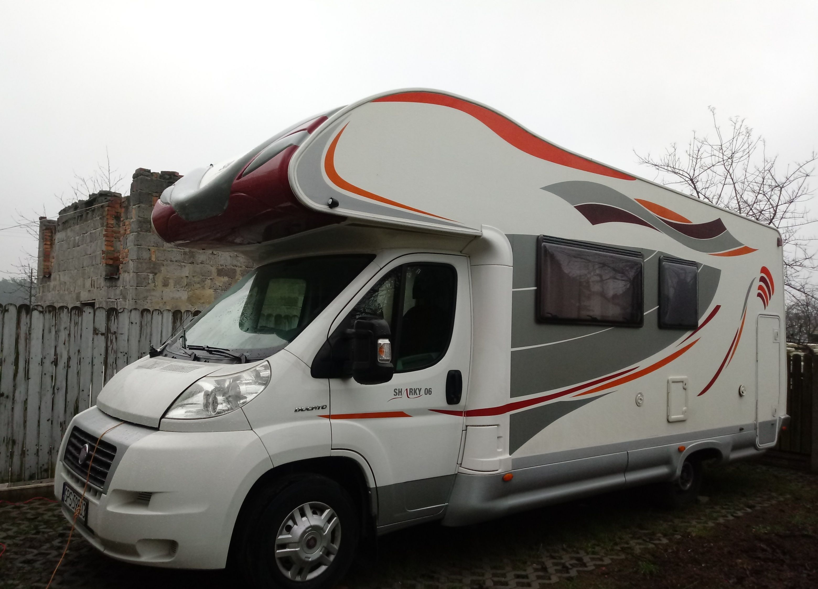 Ducato III Sharky with bicycle carrier