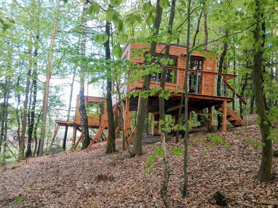 SUNSET trees house Cottage of Roztocze